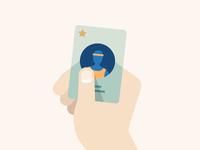 Membership Card Illustration