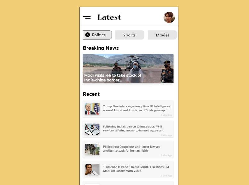 News App mobile design mobile ui user experience user profile xd ui ux design app design ux  ui ux design adobexd user interface uiuxdesign ui design