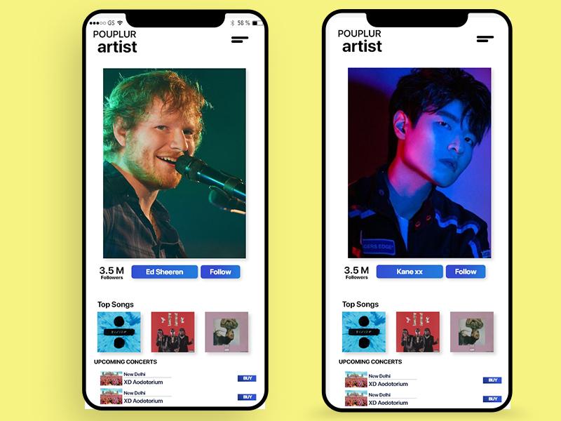 Music Ui app design uiuxdesign ux design ui design ux  ui user interface ux ui