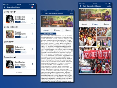 sarpanch app for villagers ui