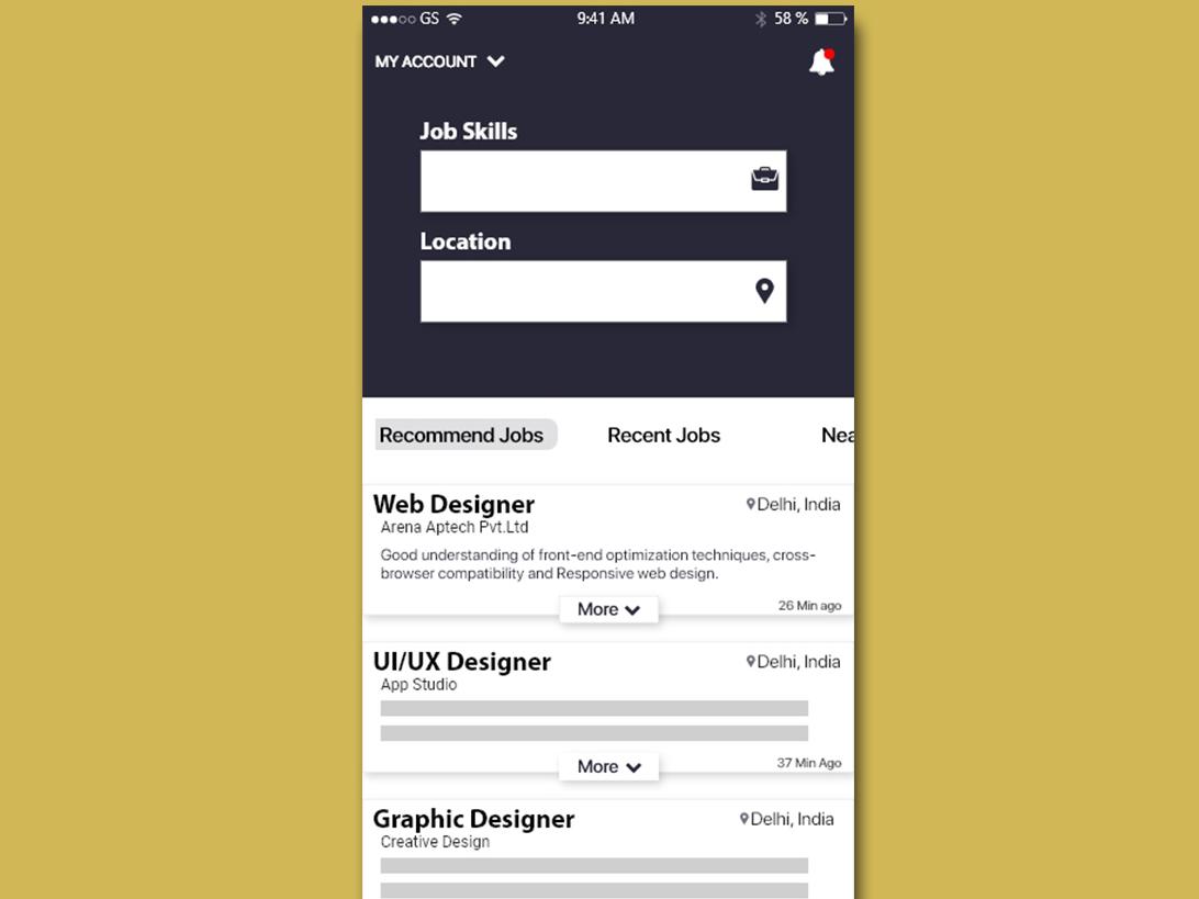 Job search Ui design uxdesign ui  ux uidesign newapp illustration application appdesign app template ux  ui ux xd ux design design app design adobexd user interface uiuxdesign ui design ui