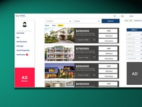 real estate online web ui