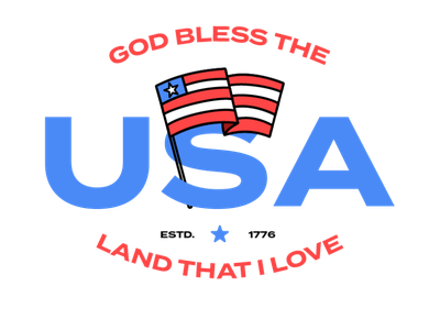 America Day (July 4th 2020) blm freedom flag logo usa