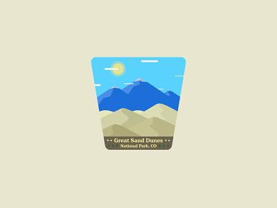 Great Sand Dunes National Park, Colorado USA 🇺🇸 stickers sticker shop sticker usa dune dunes sand sand dunes great sand dunes colorado