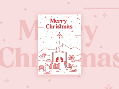 Christmas Card 🎄 december jesuschrist stars cards christmascard christmas iconography icons interface figma