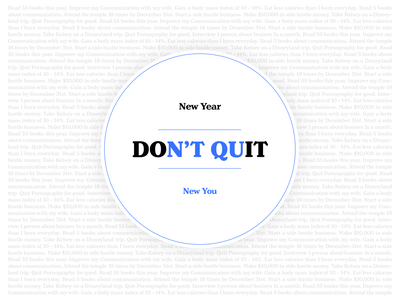 New Year, New You type badge quit goals 2020