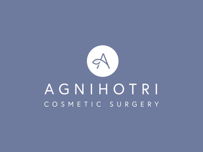Agnihotri Cosmetic Surgery — Logo Design logo mark leaf logo lockup logo design logotype surgery medical brand identity brand design logo branding flat icon vector minimal illustrator design
