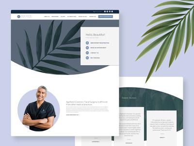 Agnihotri Cosmetic Surgery — Website Design web design layout surgery cosmetic leaf brand identity brand design web ux ui website medical branding mockup minimal design