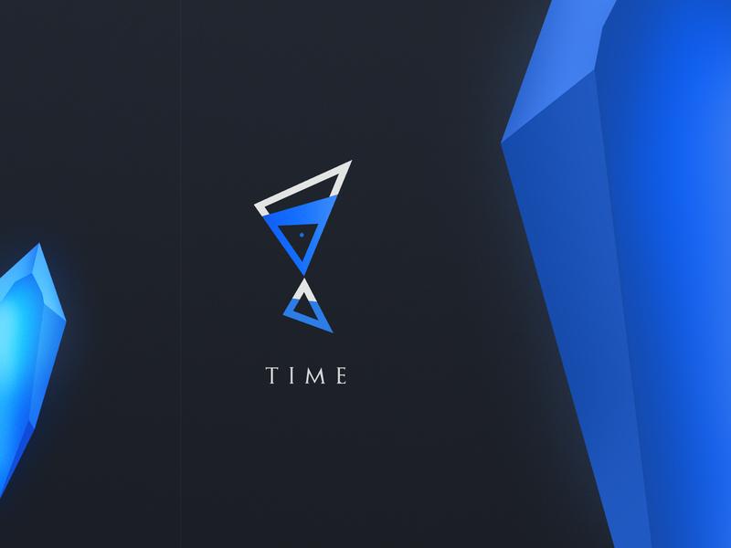 time hourglass time minimalist illustration concept icon vector branding logo design