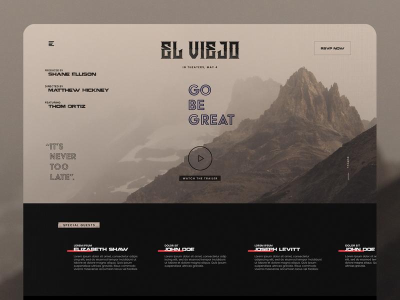 elviejo rsvp minimal flat web icon typography web  design interaction ux ui concept design