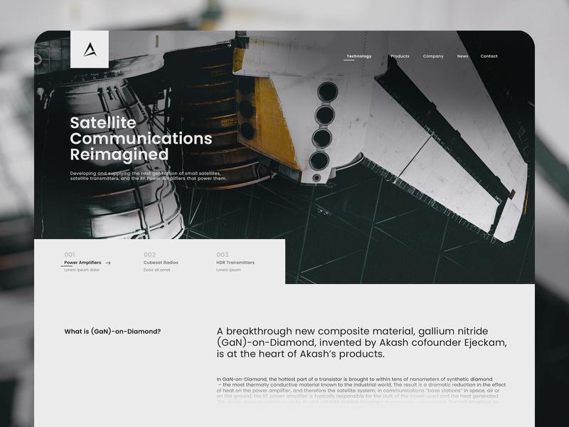 akash technology homepage landingpage flat minimal web typography branding web  design interaction ux ui concept design