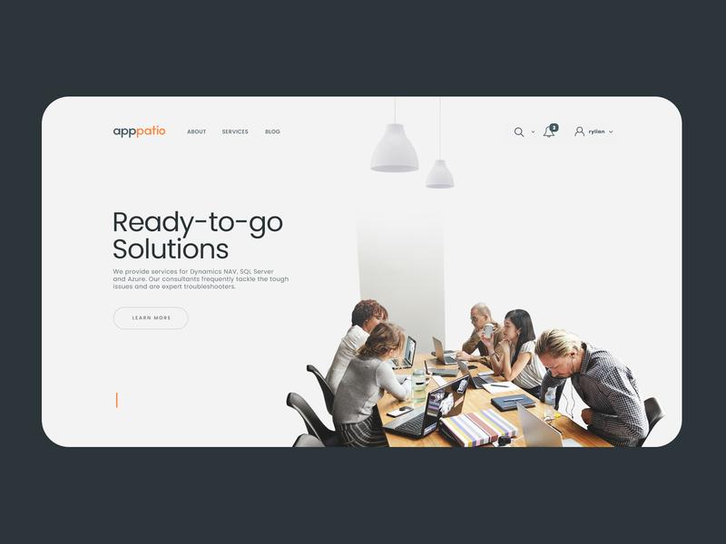 apppatio minimal web icon typography branding app web  design interaction ux ui concept design