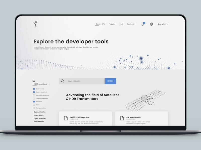 api list v2 technology management tiles listing api website web flat minimal web  design interaction ui ux concept design