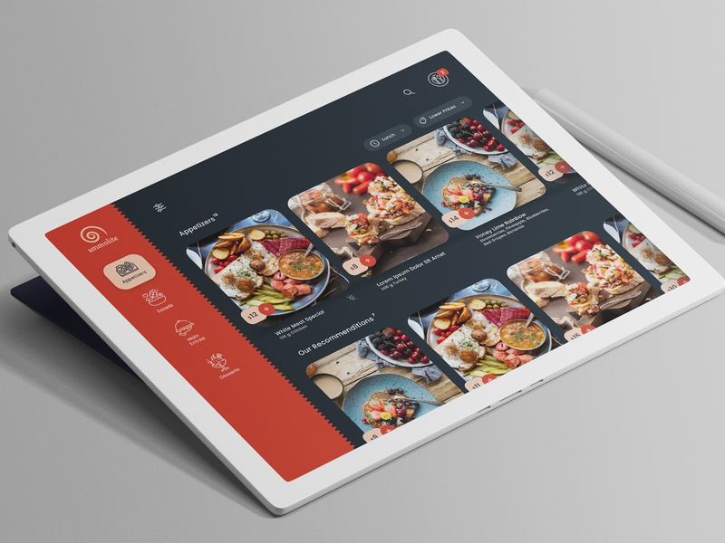 digital menu digital menu tile menu restaurant web app flat app minimal interaction ux ui concept design