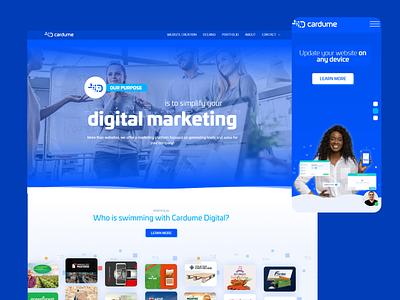 Cardume Website marketing darkblue blue fish shoal ocean sea landingpage bestdesign app web website ux ui