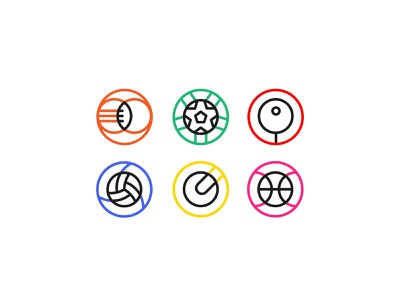 Olympic ball sports warmup weekly vector basketball table tennis tennis soccer rugby football sports sport ball simple minimalist badge icon olympics
