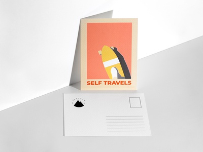Selftravels postcard