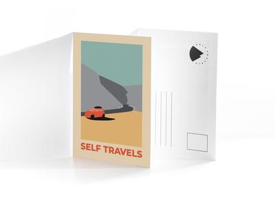 Selftravels postcards