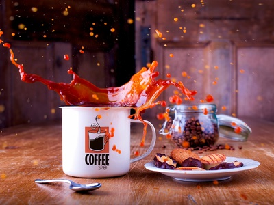 Coffee Spot jurmala europe cafe spot coffee illustration vector style nordblaze mind logo inside design creative corporate commercial building build branding brand