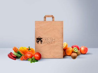 Fresh Market cmyk riga market fresh baltija baltic europe style nordblaze mind logo inside design creative corporate commercial branding brand