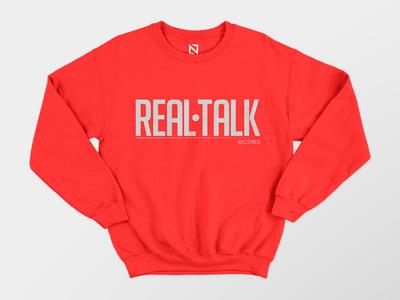 Real Talk sweatshirt sweatshirt realtalk talk appareal clothes wear apparel saint petersburg saint style nordblaze mind logo inside design creative corporate commercial branding brand