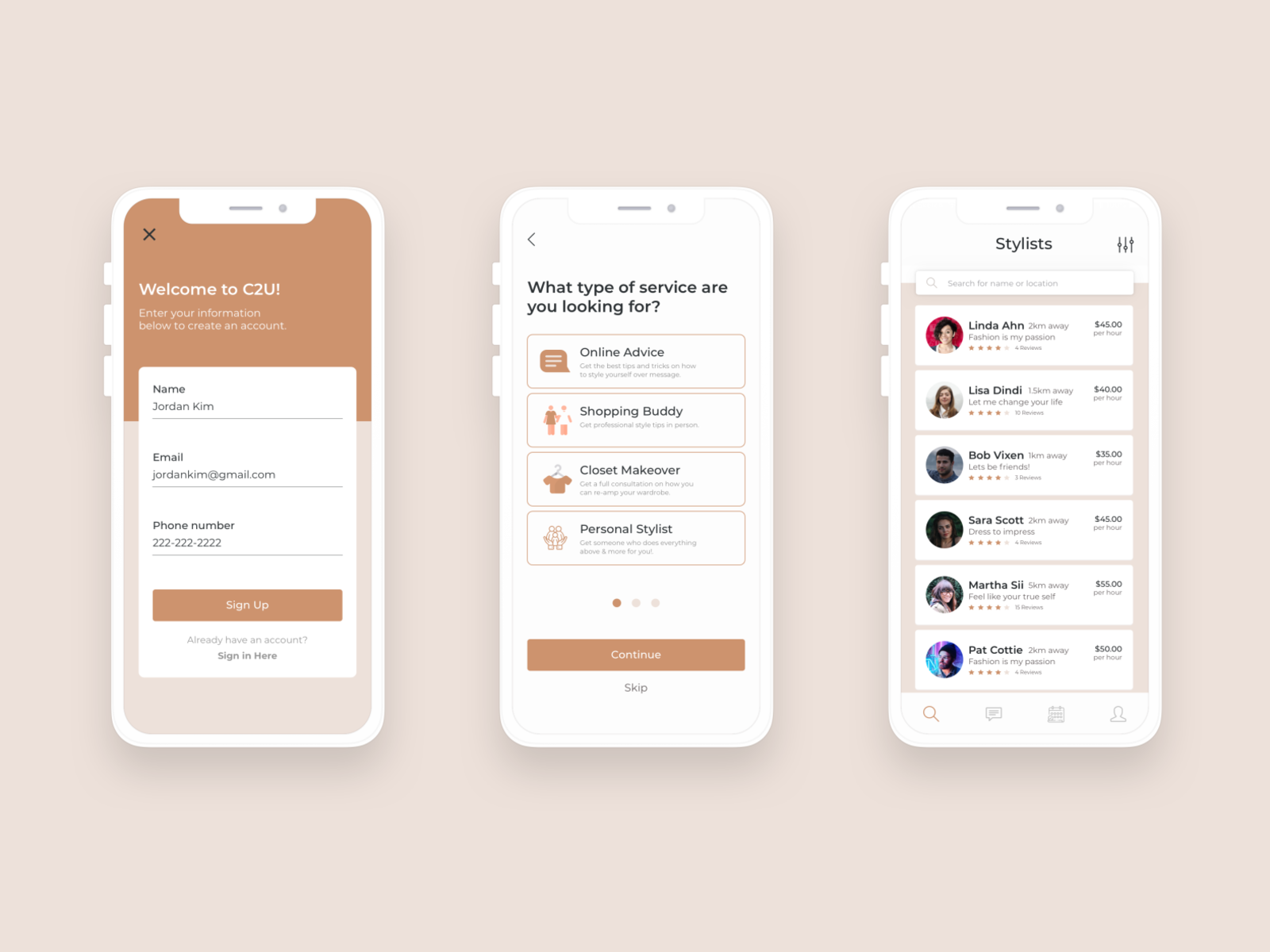 Mobile App Project Fashion Services Platform By Linda Ahn On Dribbble