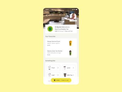Mobile Order Redesign - Nōwn App