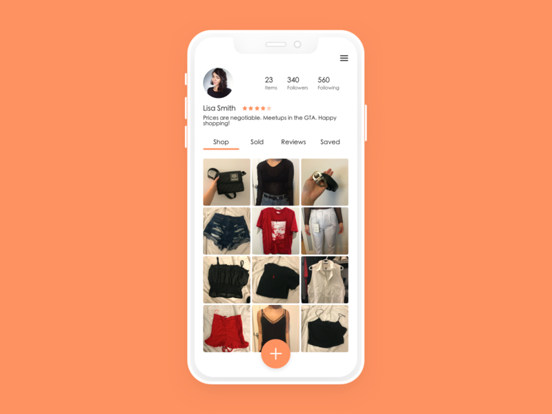 Daily UI #6 // Marketplace User Profile