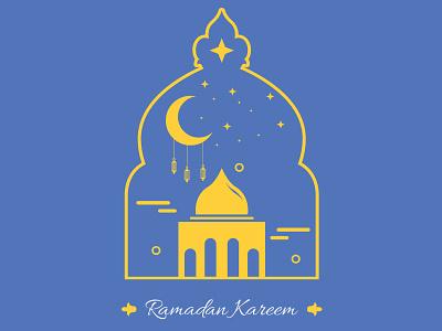Ramadan graphicdesign graphic mosque color flatdesign flat logo illustrator