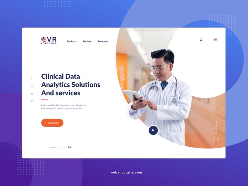 Medical website flat web design animation ui ux