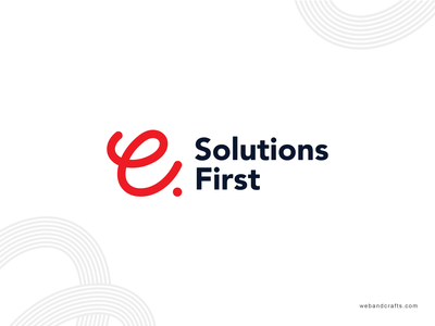E-Solutions Logo typography design icon logo branding