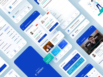 E - Learning App flat web app ux ui