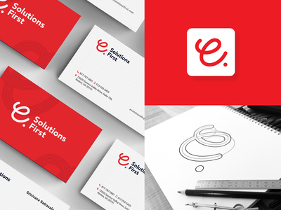 E-Solutions Beanding branding icon typography logo