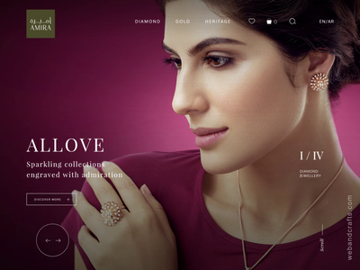 Jewellery Website web animation ui ux