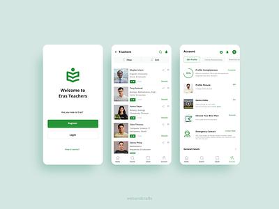 Teacher's Job Portal flat minimal design mobile ui app branding ux