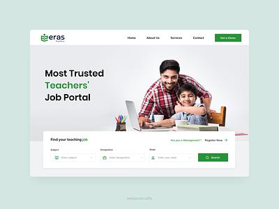 Educational Job Board UI Design job branding design website educational ux ui