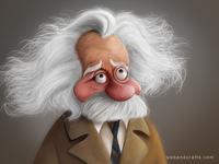 Einstein Digital painting