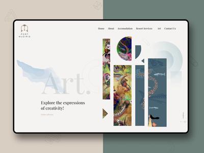 Art website design ux ui animation