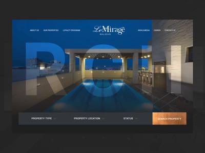 Real estate Website web ux design ui animation