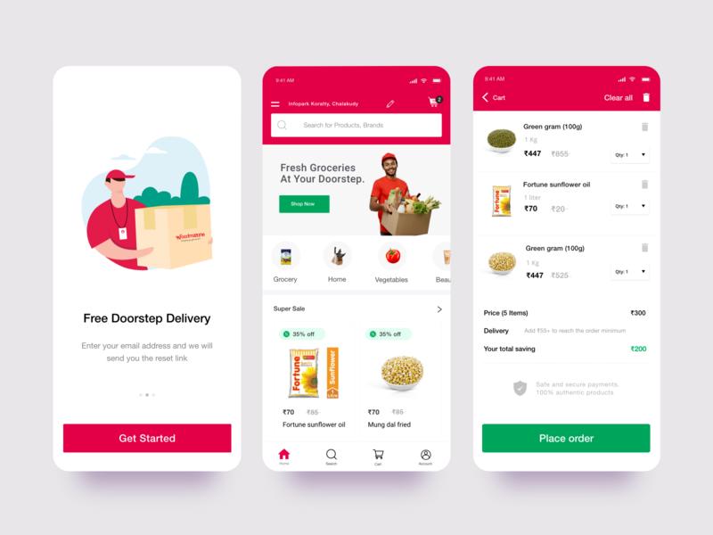 Food Delivery App design app ux ui