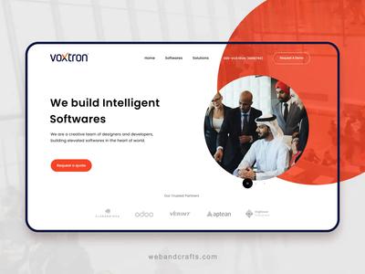 Business website web ux animation 2d ui