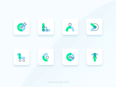 Business Icons 2d vector illustration