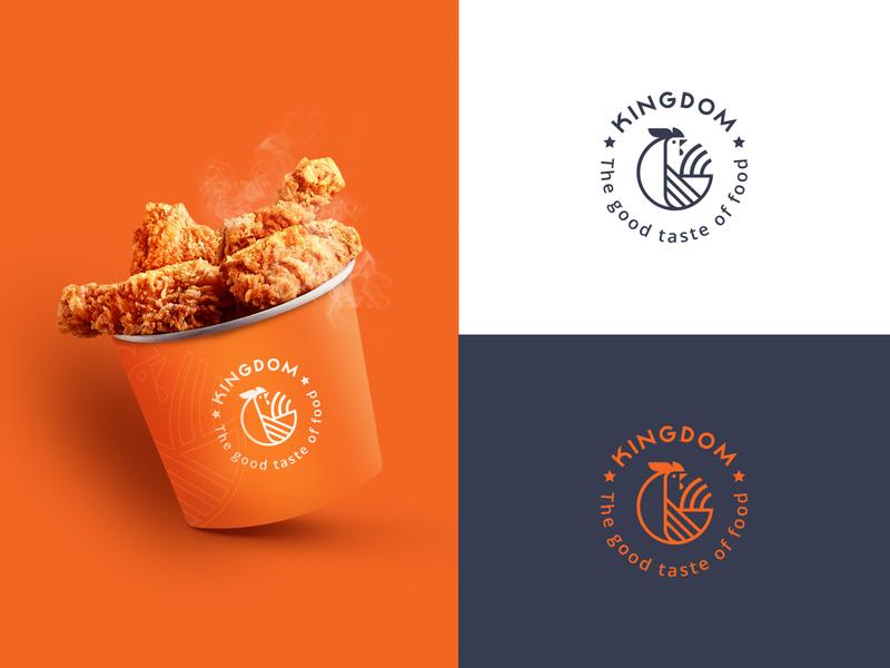 Chicken Logo icon typography illustration logo branding