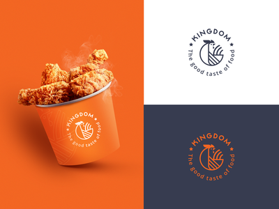 Chicken Logo icon typography illustration logo branding
