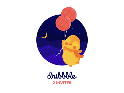 Dibbble invite design illustration dribbble invite