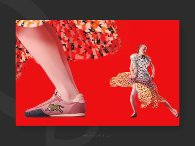 Fashion website banner ux ui animation