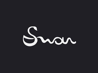 Swan swan typography bird logo