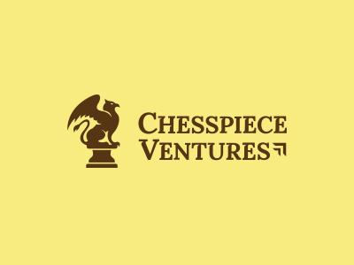 Chesspiece Ventures beast creature chess branding brand mark design logo fantasy mythical griffin