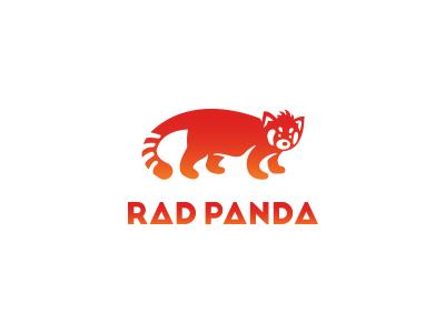 Rad Panda haircut icon design logo red panda rad cool mean cute panda red