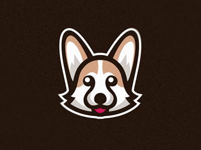 Corgi happy funny cute animal pet doggy design logo mascot puppy dog corgi